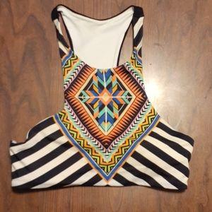 PINK Victoria's Secret tankini top, Aztec print